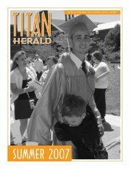 SUMMER 2007 - Taconic Hills Central School District