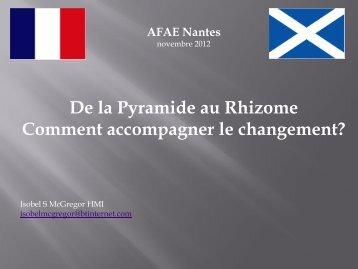 De la Pyramide au Rhizome Comment accompagner le ... - AFAE