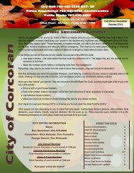 2011 Fall Newsletter - City of Corcoran