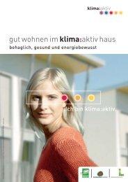 gut wohnen im klima:aktiv haus - energie:bewusst Kärnten
