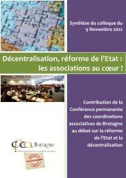 Décentralisation, réforme de l'Etat : les associations au ... - Ubapar