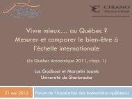 Luc Godbout et Marcelin Joanis - Association des économistes ...