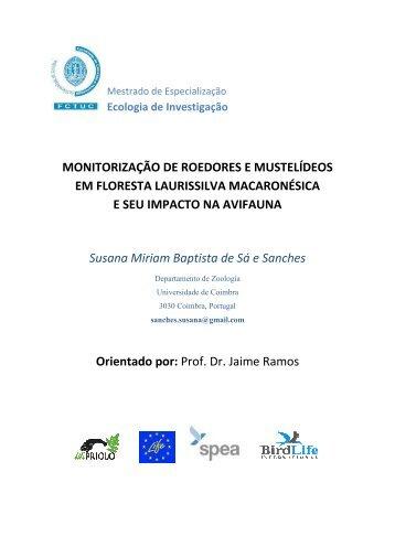 MONITORIZAÇÃO DE ROEDORES E MUSTELÍDEOS ... - LIFE Priolo