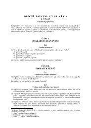Obecně závazná vyhláška obce Kobylnice č. 2/2012