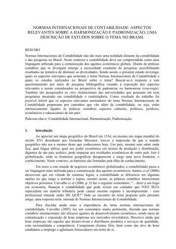 normas internacionais de contabilidade - CCN - Departamento de ...