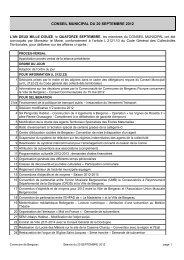 CONSEIL MUNICIPAL DU 20 SEPTEMBRE 2012 - Bergerac