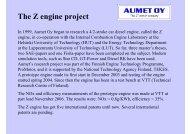 Aumet's presentation in Engine Expo 2007 (pdf ... - Aumet Oy