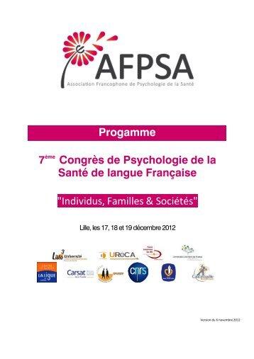 Individus, Familles & Sociétés - Lille 3