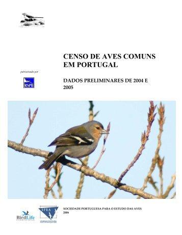 CENSO DE AVES COMUNS EM PORTUGAL - spea