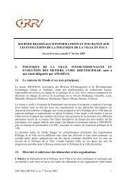 Journée régionale d'informations et d'échange sur ... - CRPV-PACA