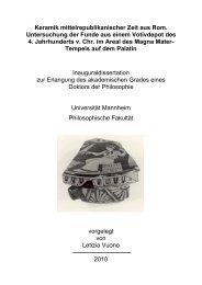 Keramik mittelrepublikanischer Zeit aus Rom. Untersuchung der ...