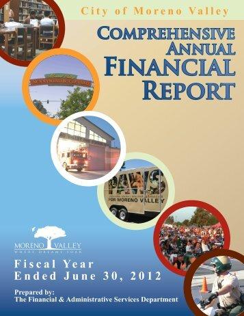 2012 Comprehensive Annual Financial Report - Moreno Valley