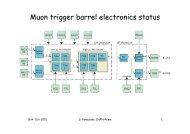 Muon trigger barrel electronics status - ATLAS