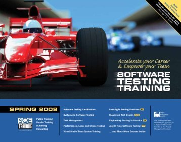 Software Testing Training Catalog Spring 2008 - SQE.com