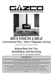 Riva Vision (Conventional Flue) - The Fire Basket