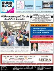 Willkommensgruß für die Rahlstedt Arcaden