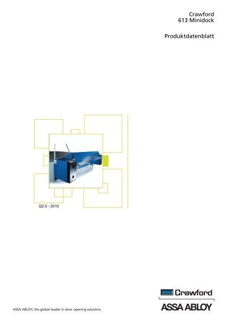 Crawford 613 Minidock Produktdatenblatt - Crawford hafa GmbH