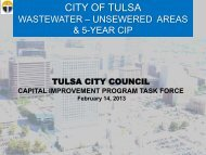Wastewater - The City of Tulsa Online