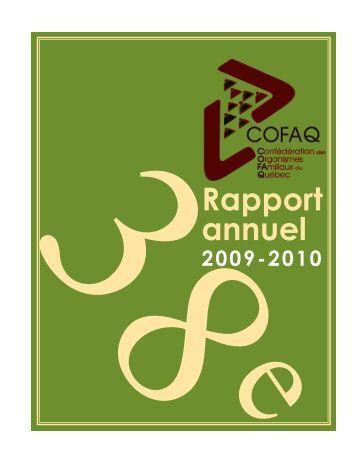 rapport d'activités 2009-2010 - cofaq