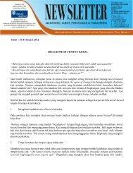 Newsletter KAP Syarief Basir & Rekan, Edisi Februari 2012