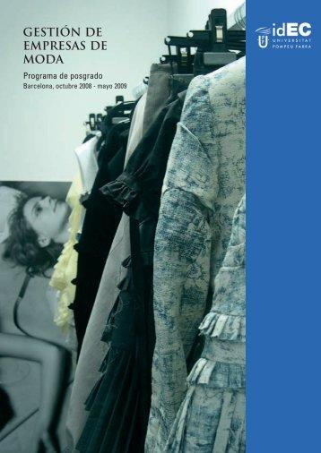 gestión de empresas de moda - IDEC - Universitat Pompeu Fabra
