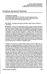 COMPLEX ADAPTIVE SYSTEMS J. Stephen Lansing