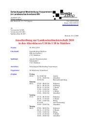 Ausschreibung zur Landeseinzelmeisterschaft 2010 in den ...