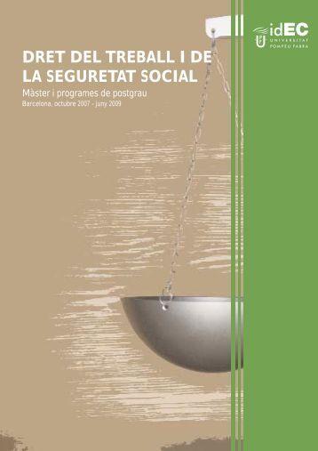 dret del treball i de la seguretat social - iDEC - Universitat Pompeu ...