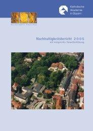 Nachhaltigkeitsbericht Katholische Akademie - KirUm - Netzwerk ...