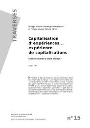 Capitalisation d'expériences…expérience de ... - Groupe Initiatives