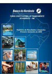 Relatório de Resultados e Impactos (FNE - 1º semestre) - Sudene