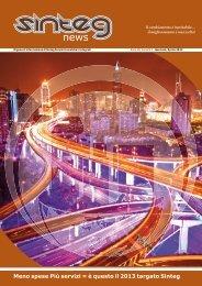 [PDF - 2.1 Mb] Sinteg News n° 1 / Anno 3 01/01/2013