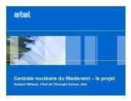 Centrale nucléaire du Niederamt – le projet