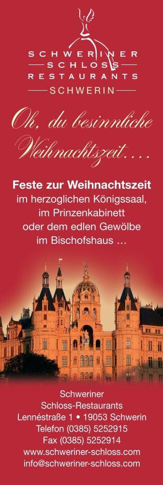 Oh, du besinnliche Weihnachtszeit.... - Schweriner Schloß