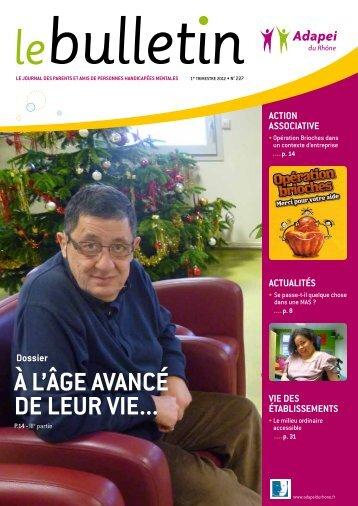 dossier À L'ÂGe aVancé de Leur Vie... - (ADAPEI) Rhône