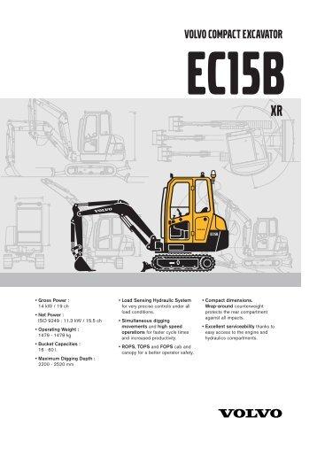 Excavator EC15BXR - Plant Hire UK Limited