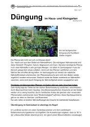 Düngung im Haus- und Kleingarten