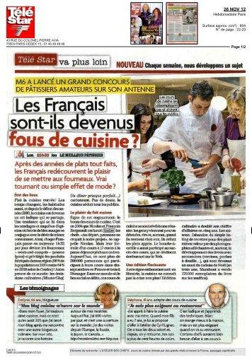 Les Français sont-ils devenus fous de cuisine ? - Atelier des Chefs