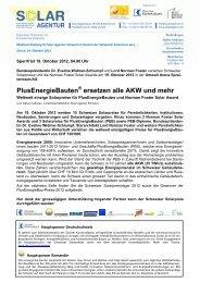 PlusEnergieBauten ersetzen alle AKW und mehr - Solar Agentur ...