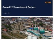 Csepel III Investment Project