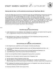 Satzung über die Haus- und Grundstücksnummerierung der ... - Müritz