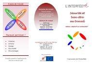 action sécurité et bien-être au travail - Interfédé