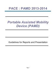 PACE : PAMD 2013-2014 Portable Assisted Mobility Device (PAMD)