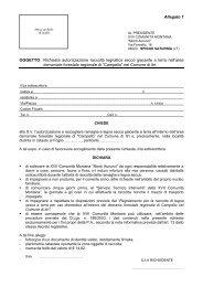 Allegato 1 OGGETTO: Richiesta autorizzazione raccolta legnatico ...