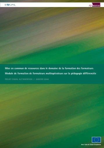 Module de formation de formateurs Pédagogie différenciée - Sysfal