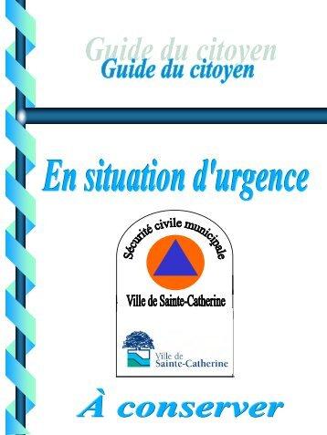Guide du citoyen en mesure d'urgence - Ville de Sainte-Catherine