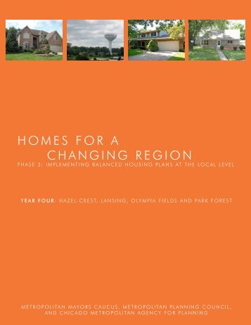Homes for a Changing Region South Suburban Final Report