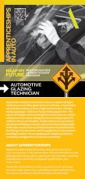 Automotive Glass Technician - MAAP My Future