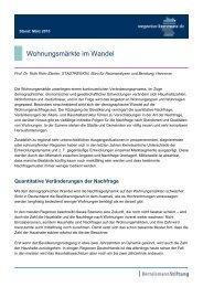 Wohnungsmärkte im Wandel - Wegweiser Kommune
