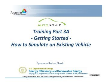 Autonomie Training Part 3 A, Getting Started, How to Simulate an ...